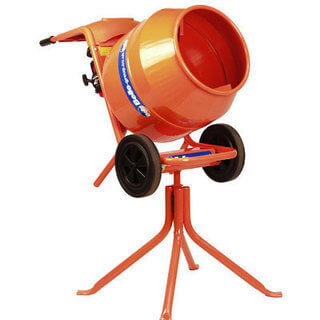 Cement Mixer, Disc Cutter & Vibrating Plate (Petrol) Package
